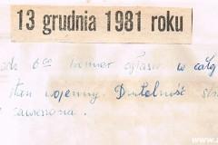 13 grudnia 1981 r. w Załężu