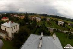 Filmowanie z powietrza - dom w Załężu